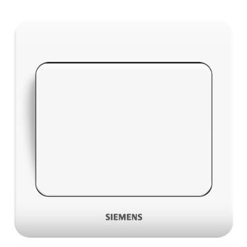 西门子SIEMENS 远景系列一位双控大跷板开关,5TA02061CC1 雅白
