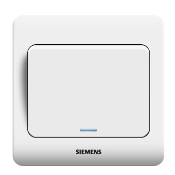西门子SIEMENS 远景系列一位双控大跷板开关(带荧光指示),5TA01141CC1 雅白