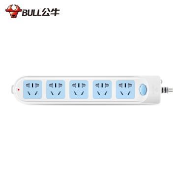 公牛BULL 接线板,总控开关(新国标),基础系列,GN-602 3米 5位