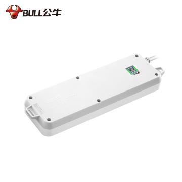 公牛BULL 接线板,分控开关(新国标),超功率保护系列,GN-311 3米 4位