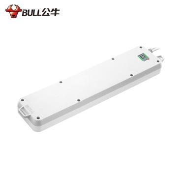 公牛BULL 接线板,分控开关(新国标),超功率保护系列,GN-313 3米 6位