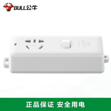 公牛BULL 接线板,总控开关(新国标),基础系列,GN-104D 无电线 1位