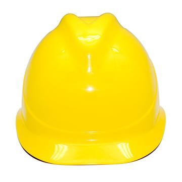 安铠迅 安全帽,GY-A1-黄(同一系列30顶起订),V型ABS安全帽 黄色