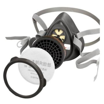 3M 尘毒呼吸防护套装,3200套装,含3200半面罩、3301CN滤毒盒、3N11CN滤棉、385滤棉盖