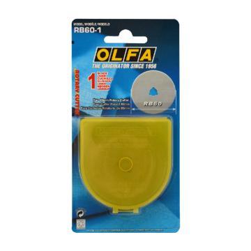OLFA 旋转刀片,60mm 1片装,RB60-1