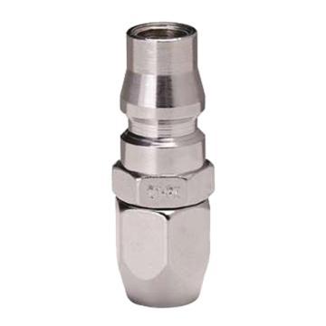 JPE 螺帽式PU管用插头,Φ6.5xΦ10,碳钢,AFE-22PB