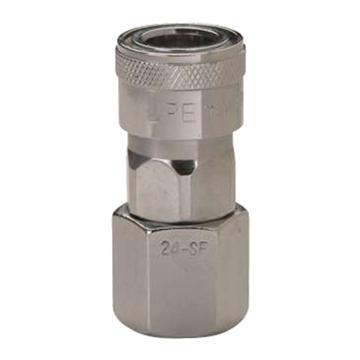 "JPE 内螺纹插座,内牙PT1/4"",碳钢,AFE-22SF-R"