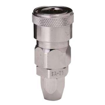 JPE 螺帽式PU管用插座,Φ8xΦ12,碳钢,AFE-23SA