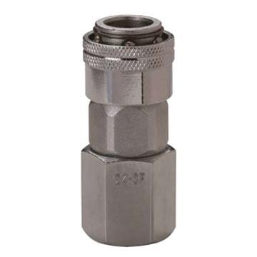 """JPE 单插式内牙插座,内牙PT1/4"""",碳钢,AFE-22YSF-R"""