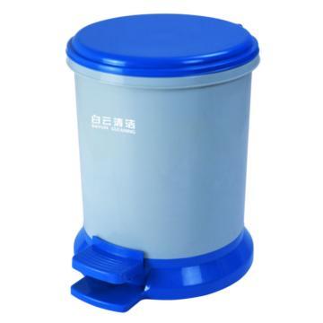白云小号脚踏垃圾桶,AF07022,8升 脚踏垃圾桶客房桶垃圾桶 33.7*27.8*34.3