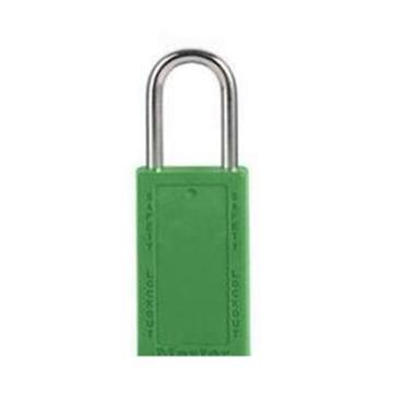 玛斯特锁MasterLock 6mm锁钩,锁钩净高38mm,76mm高,绿色XENOY工程塑料安全锁,411MCNGRN