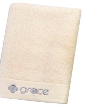 洁丽雅毛巾 经典素色系列竹纤维强吸水毛巾 酒店毛巾 6413 白色 72x33cm 92g(后期颜色全部是米白色)