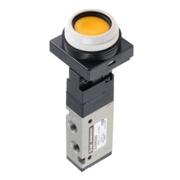 SMC 机械阀,按钮(平头),VZM450-01-33