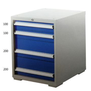 宏野 工具柜,4抽 单抽承载80kg 566*600*700mm 面板蓝色 框架灰白,HY-5003