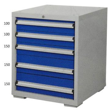 宏野 工具柜,5抽 单抽承载80kg 566*600*700mm 面板蓝色 框架灰白,HY-5005