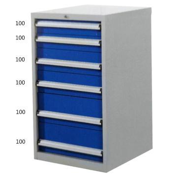 宏野 工具柜,6抽 单抽承载80kg 566*600*700mm 面板蓝色 框架灰白,HY-5006