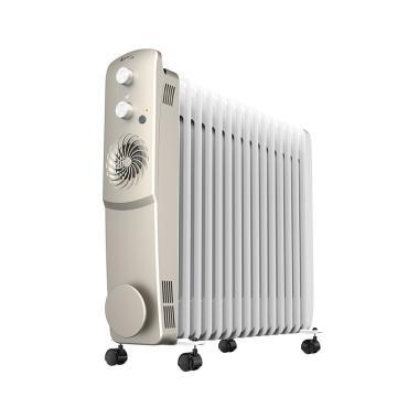 艾美特 15片快热片节能电热油汀 HU1526-W1,3000W