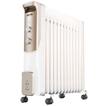 艾美特 13片快热片节能电热油汀 HU1306-W1,2200W