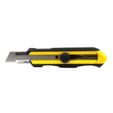 史丹利 DYNAGRIP旋鈕雙色柄美工刀,25mm,STHT10425-8-23,壁紙刀 介刀 切割刀