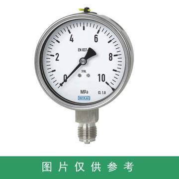WIKA 压力表,233.50.063,0-1.6MPa 表面DN 60mm 1/4 轴向 充液,不锈钢 G