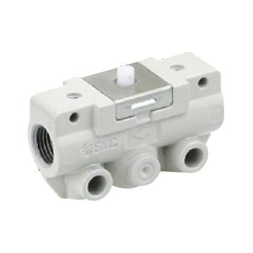 SMC 机控阀,机械操作,侧配管,基本式,二位二通,R1/8,VM120-01-00A