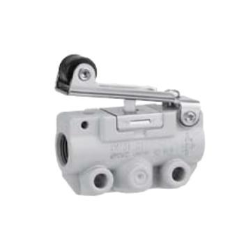 SMC 机控阀,机械操作,侧配管,滚轮杠杆式,二位三通,R1/8,VM131-01-01A