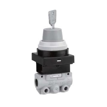 SMC 機控閥,手動操作,鎖式(2位),側配管,二位三通,R1/8,VM130-01-36A
