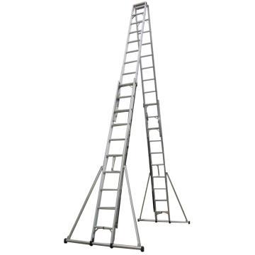 铝合金双面伸缩梯,全长:4.0m,收长:2.8m,自重:29.5kg