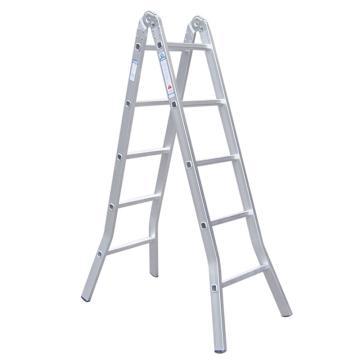 铝合金二关节折梯,伸长:4.5m,折长:2.2m,自重:10.0kg