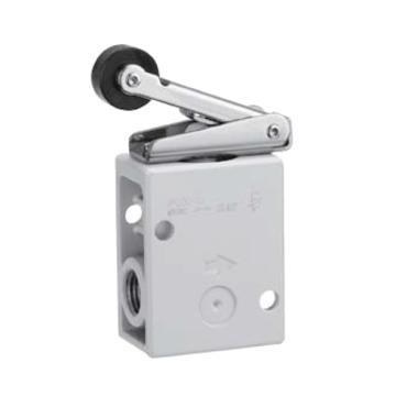 SMC 機控閥,機械操作,側配管,滾輪杠桿式,二位二通,R1/4,VM220-02-01A