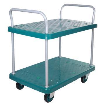 连卡德 环保型多功能平板手推车,双层双扶手,载重(kg):300