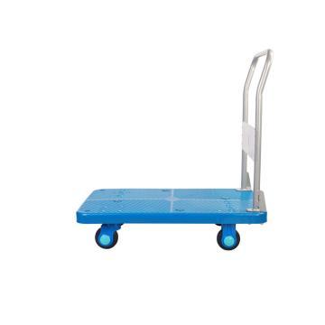 连和 超静轮不锈钢扶手固定式手推车,超静轮 300kg,PLA300ST