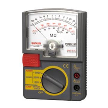 三和/SANWA 模擬兆歐表,指針式絕緣電阻測試儀,PDM5219S