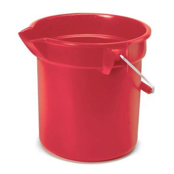 乐柏美Rubbermaid圆形桶,9.5L 红色 FG296300RED
