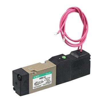 喜开理CKD 5通电磁阀,集成用阀单体,4KB119-00-DC24V