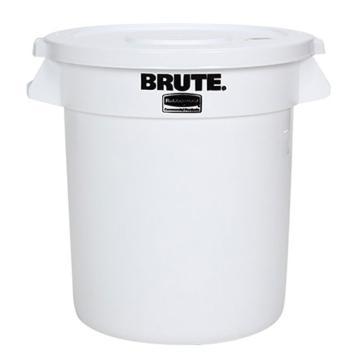 乐柏美Rubbermaid BRUTE®贮物桶 75.5L﹐不连桶盖,白色 FG262000WHT