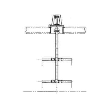 顶入式搅拌器XJ-XLD配套电机+减速机,7.5kw 63rpm,EHSY-JBQ-03