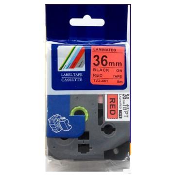 普贴 标签色带,红底黑字TZ2-461宽度36mm 适用于兄弟TZ系列标签机 单位:卷