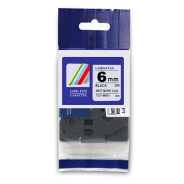 普贴 标签色带,银底黑字TZ2-M911宽度6mm 适用于兄弟TZ系列标签机 单位:卷