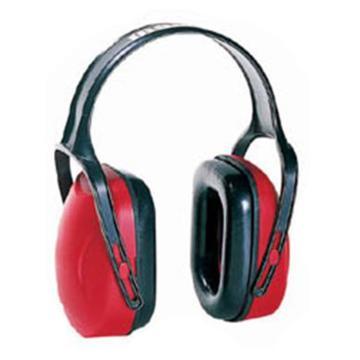 霍尼韦尔Honeywell 头戴式耳罩,1010421,Mach 1 经济型 红黑