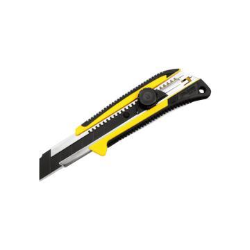 田岛美工刀,双色手柄 超重型 25mm x 126mm 旋钮锁定, LC661B