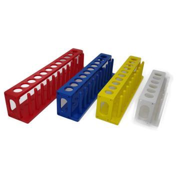 10孔试管架,ABS,红色,孔径22mm
