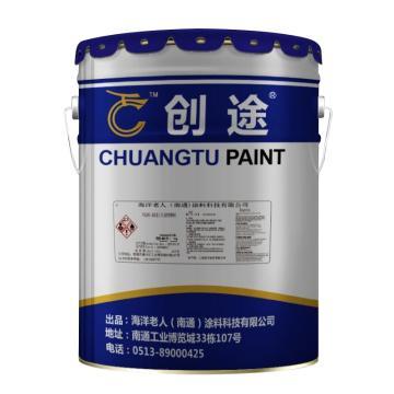 创途 水性高固含环氧地坪漆,艳绿,20KG油漆+5KG固化剂