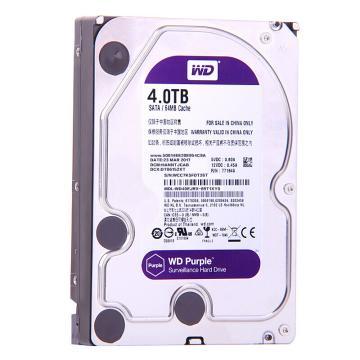 西部数据(WD)紫盘, 4TB SATA6Gb/s 64M 监控硬盘(WD40EJRX) 单位:个