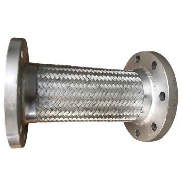 全304法兰不锈钢金属软管 JR-16,DN100,L=300mm,承压16公斤