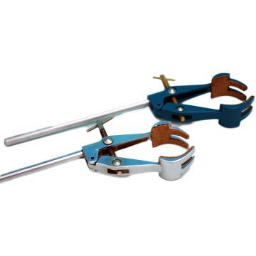 四爪万用夹,锌铝合金镀铬、喷塑,杆长150mm,夹持5-90mm
