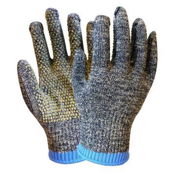 海太尔 0079 迷彩钢丝点塑防割手套,PVC涂塑,255mm
