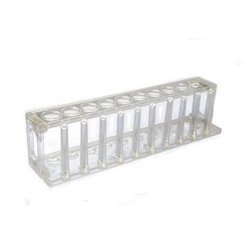试管架,有机玻璃10孔,Φ22mm