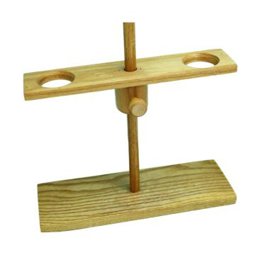 漏斗架,木制两孔