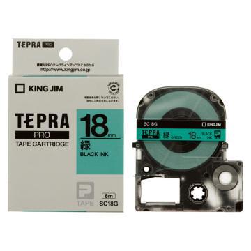 锦宫 彩色标签,黑字绿底18mm×8m每卷(浅淡色) SC18G 单位:个